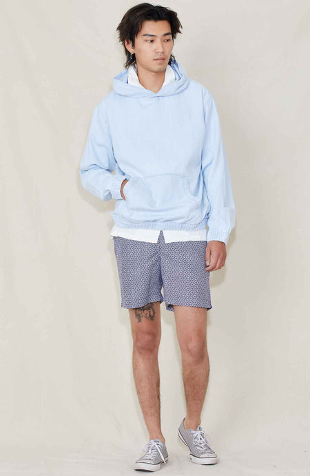 Hooded Denim Pullover