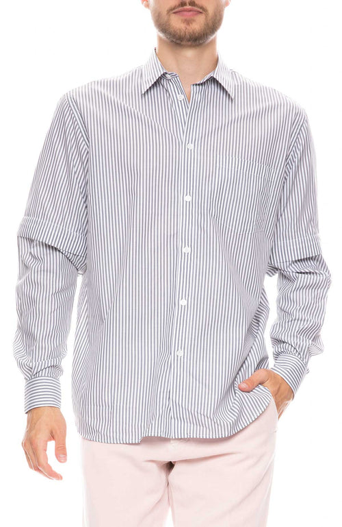 Saul Striped Shirt with Detachable Sleeves