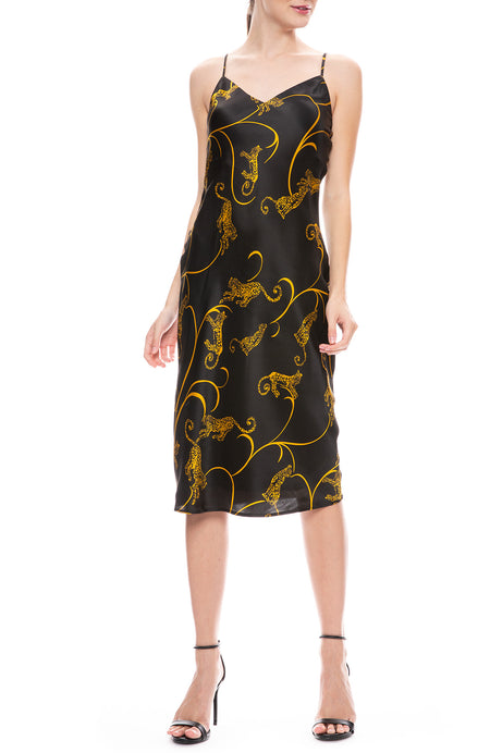 Jodie Tiger Print Slip Dress