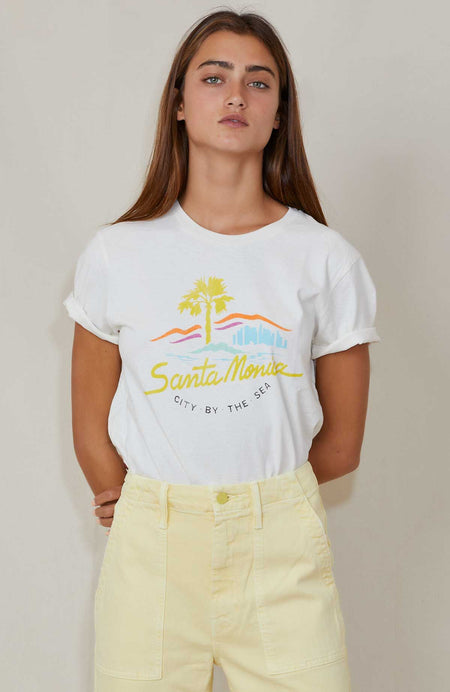 70s Loose Tee City By The Sea