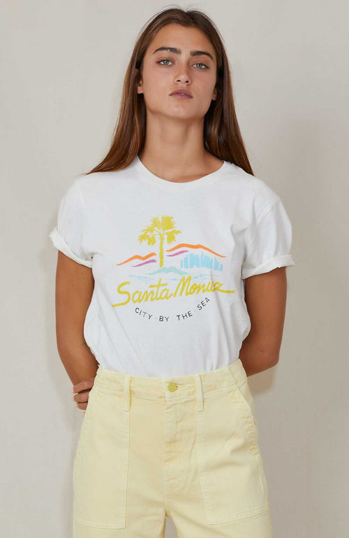 RE/DONE 70S LOOSE TEE CITY BY THE SEA