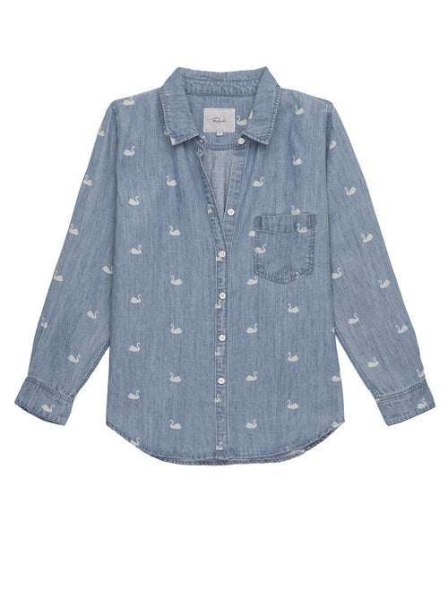 Ingrid Print Denim Shirt