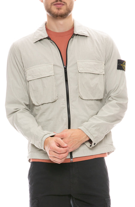 Brushed Cotton Nylon Overshirt