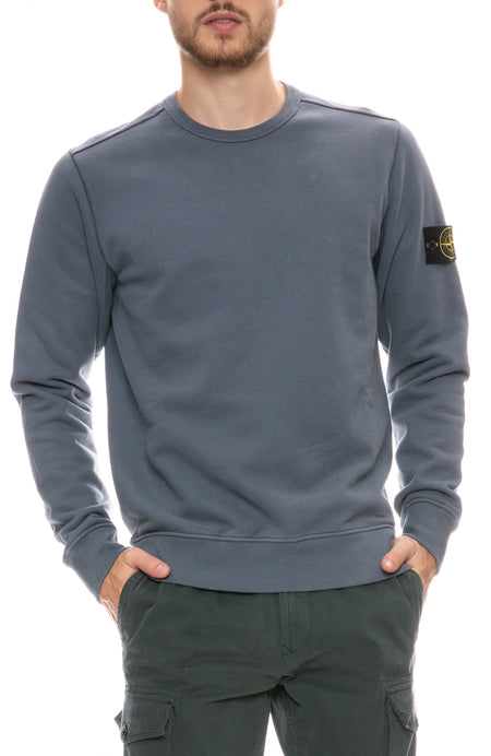 Brushed Cotton Fleece Crew Sweatshirt
