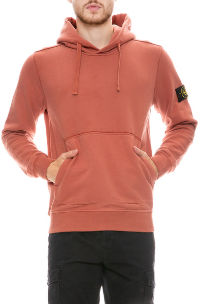 Brushed Cotton Fleece Pullover Hoodie
