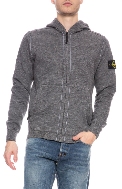Mouline Fleece Zip Sweatshirt