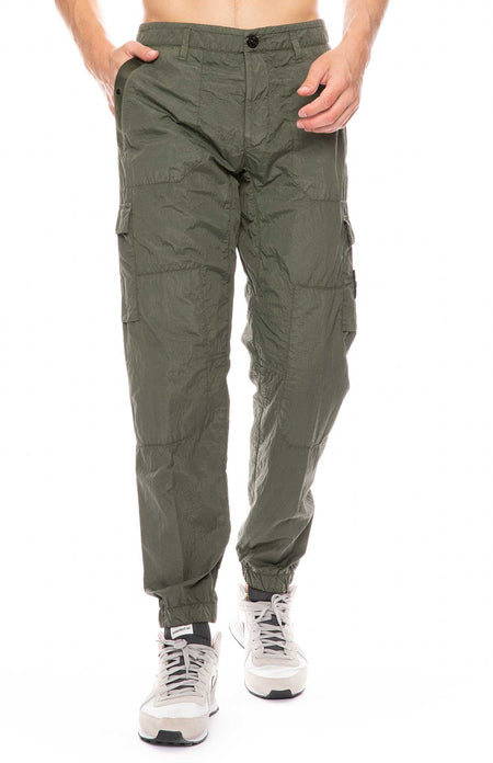 Garment Dyed Seersucker Cargo Pants