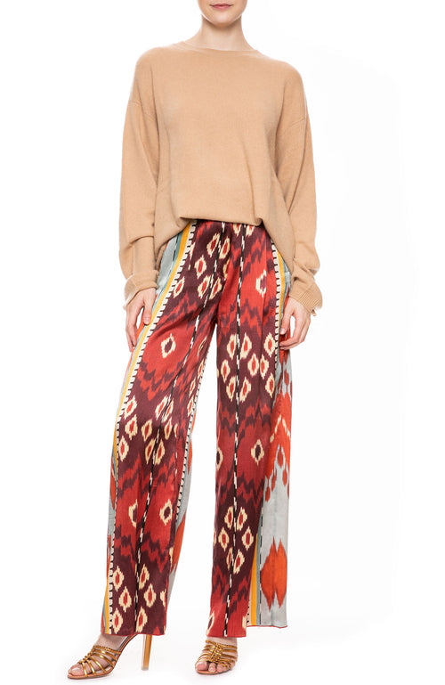 Silk Satin Wide Leg Pant