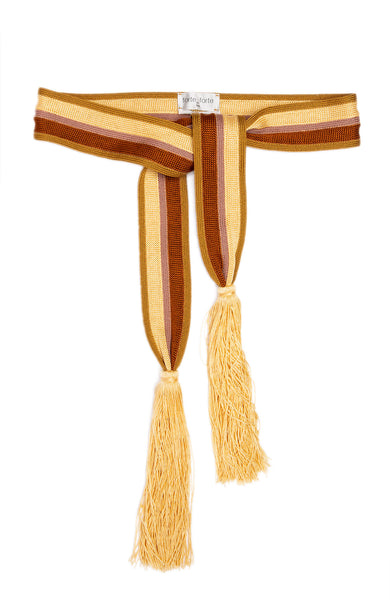 Striped Sash with Tassels