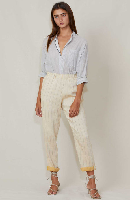 Cotton Pinstripe Pant