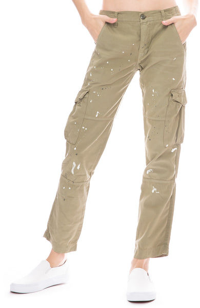 NSF Basquiat Cargo Pocket Pant in Olive Painted Military