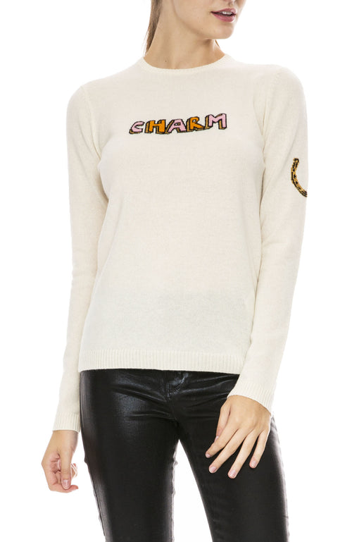 Bella Freud Charm Cashmere Sweater in Ivory