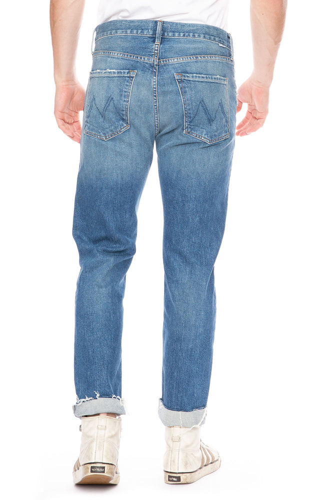 Mother Mens Chaser Ankle Cuff Fray Jean in Step On It at Ron Herman