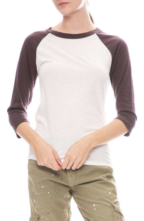 NSF Eloide Baseball Tee in Blackberry