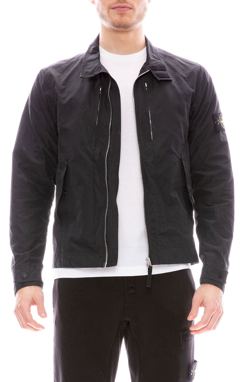 Stone Island Micro Reps Zip Jacket in Black