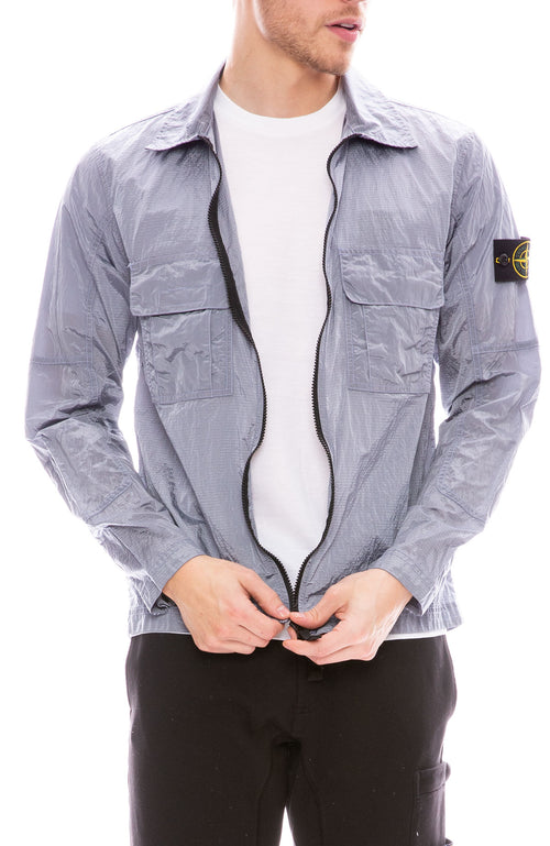 Stone Island Ripstop Over Shirt in Lavender