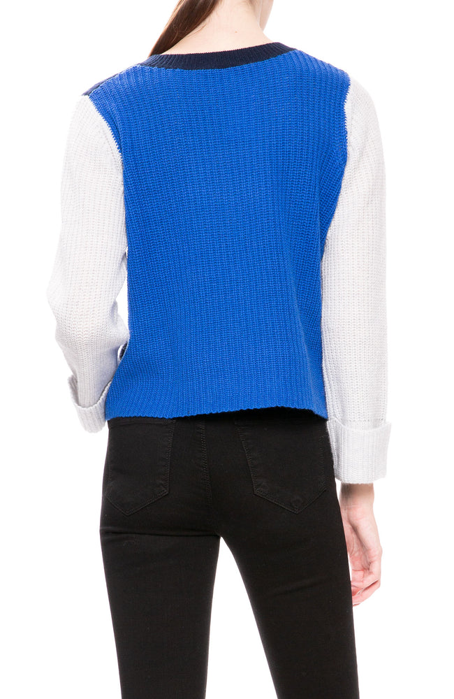 Autumn Cashmere Cropped Color Block Sweater at Ron Herman