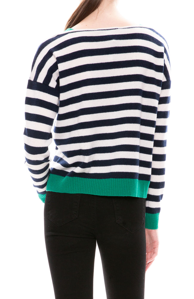 Autumn Cashmere Multi Stripe Cashmere Sweater at Ron Herman