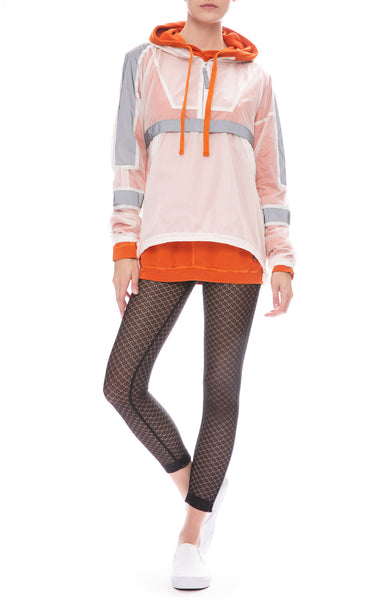 John Elliott Plex Sail Pullover with Selma Sheer Lace Leggings and FreeCity Sweatshirt
