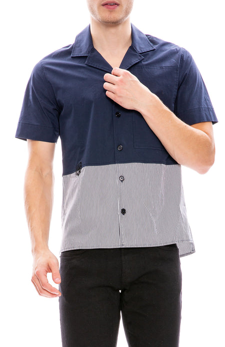 Bowling Shirt with Bottom Stripes