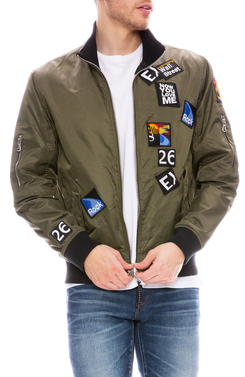 Lucian Reversible Patch Bomber with Lining Art by Gil Goren