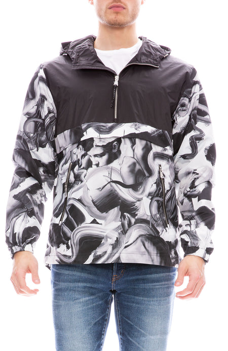 Hanover Print Zip Jacket with Lining Art by Tom French