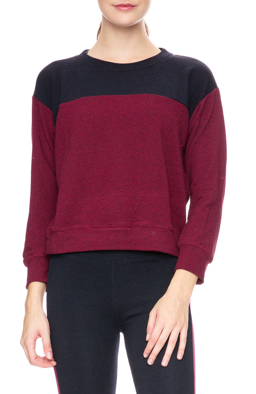 Sundry Color Block Sweatshirt at Ron Herman