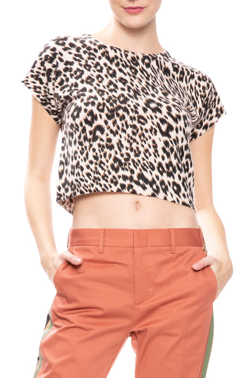 Frances Leopard Sweater Tee