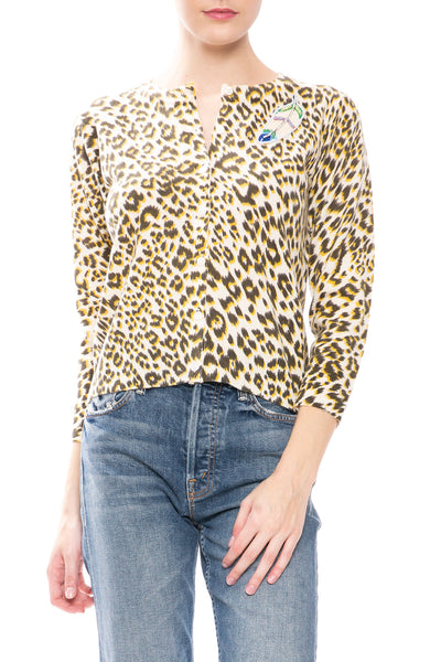 Le Superbe Cobain Leopard Cashmere Cardigan at Ron Herman