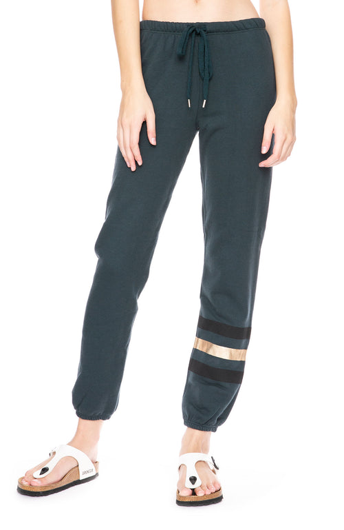 Sundry Metallic Stripe Slouchy Sweatpants at Ron Herman