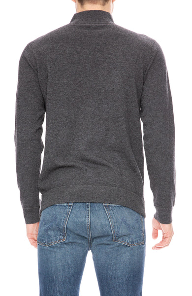 Ron Herman Exclusive Cashmere Mock Neck Sweater in Charcoal