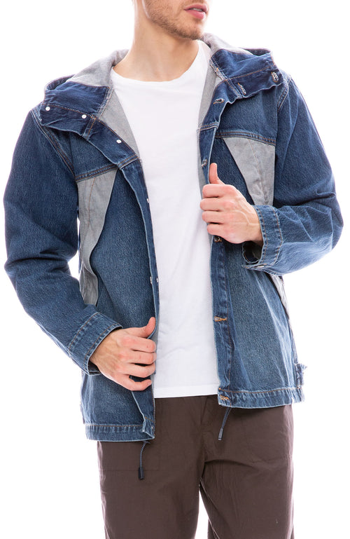 Wood Wood Diego Denim Jacket in Worn Blue