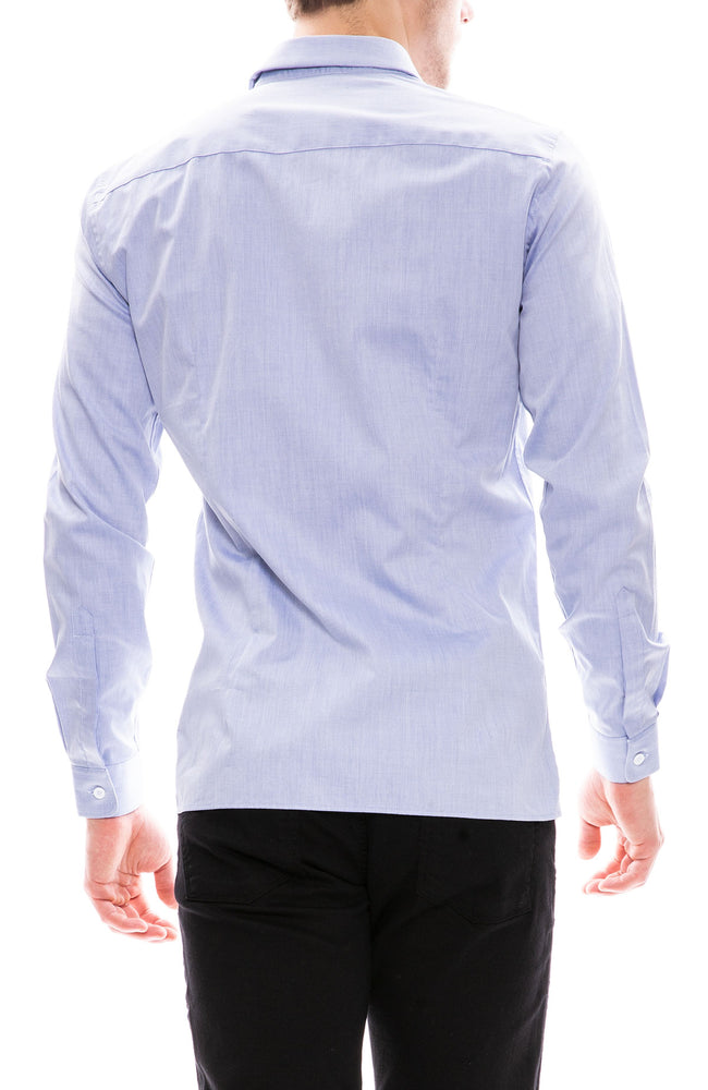 Editions M.R. French Collar Button Down Shirt in Blue at Ron Herman