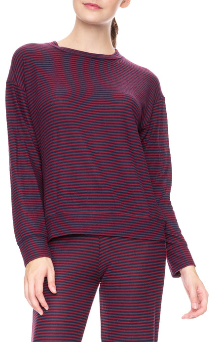 Striped Sweater Knit Pullover