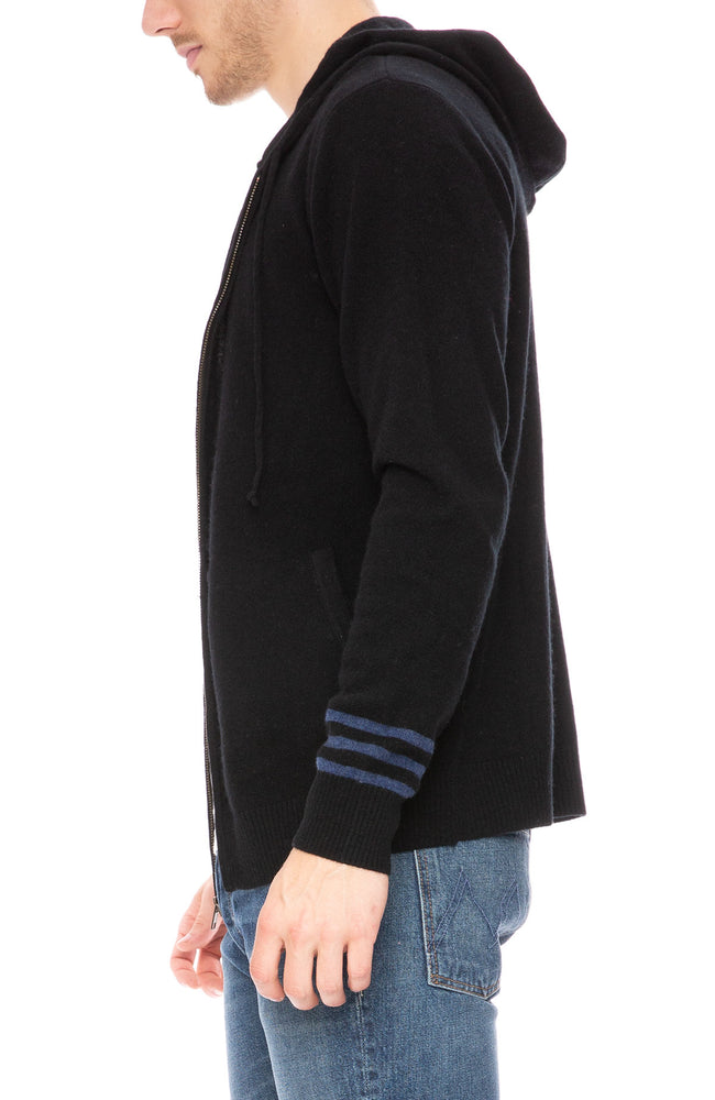 Ron Herman Exclusive Striped Sleeve Cashmere Hoodie