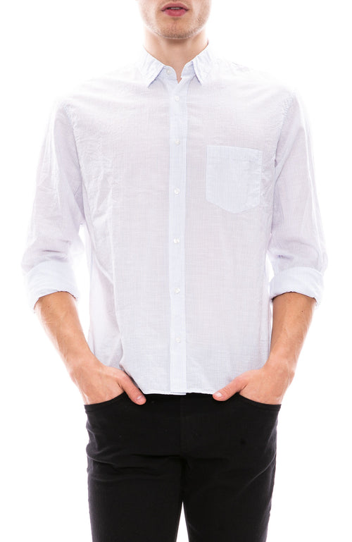 Frank & Eileen Mens Luke Cotton Chambray Shirt at Ron Herman