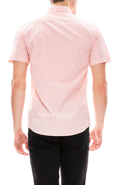 Barena Short Sleeve Button Down Shirt in Rosa Pink at Ron Herman