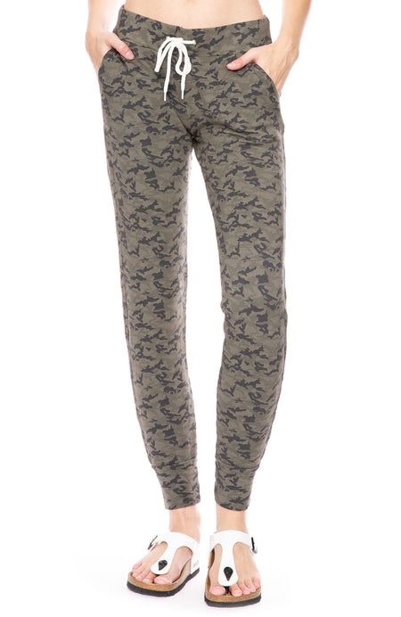 Camo Print Sporty Sweatpants