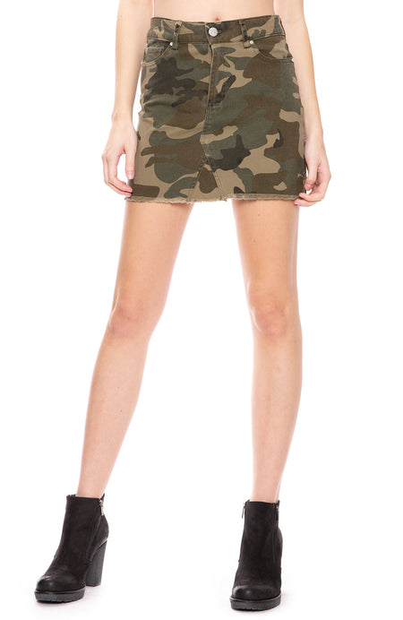 Five Pocket Camo Skirt