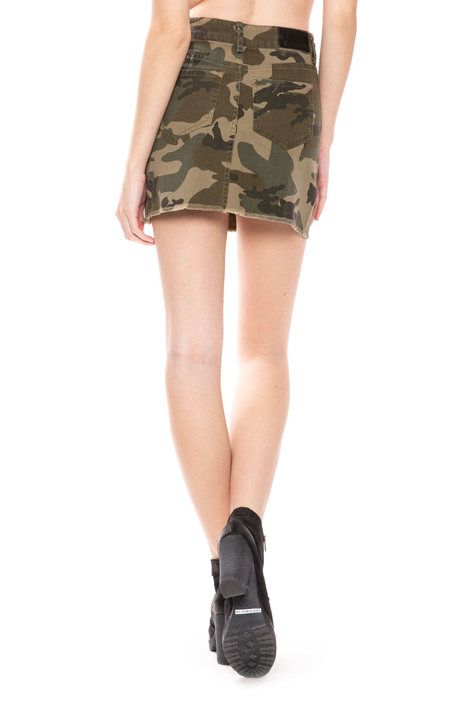 Kendall + Kylie Five Pocket Camo Skirt at Ron Herman