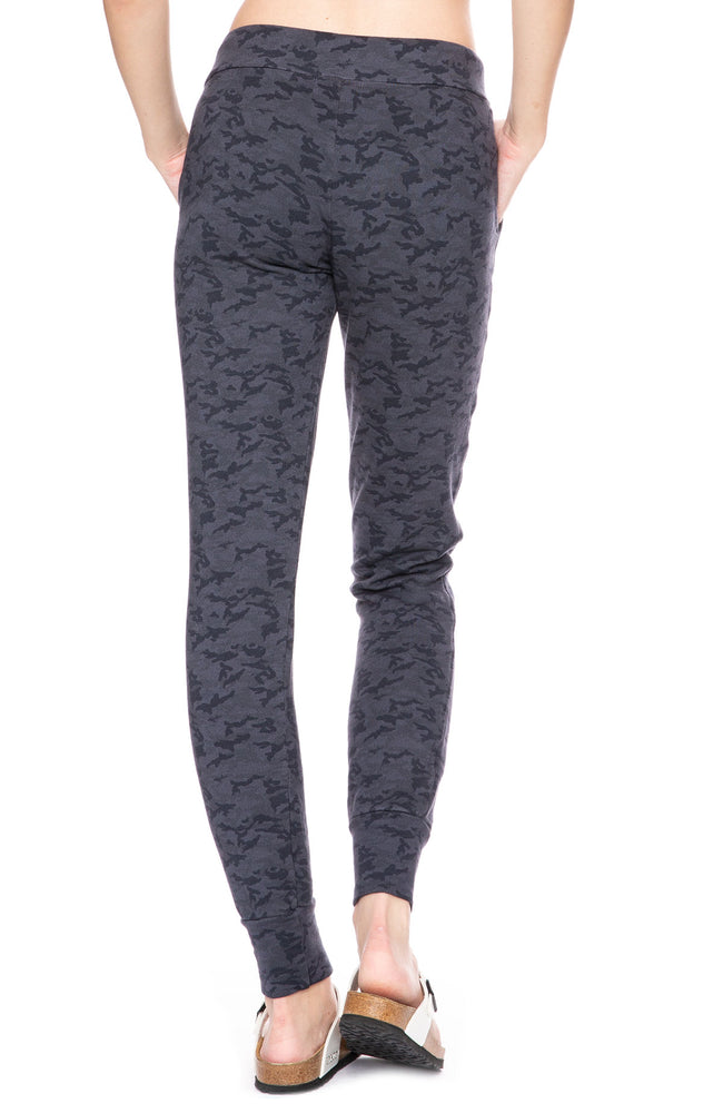 Monrow Camo Print Sporty Sweatpants in Vintage Black at Ron Herman