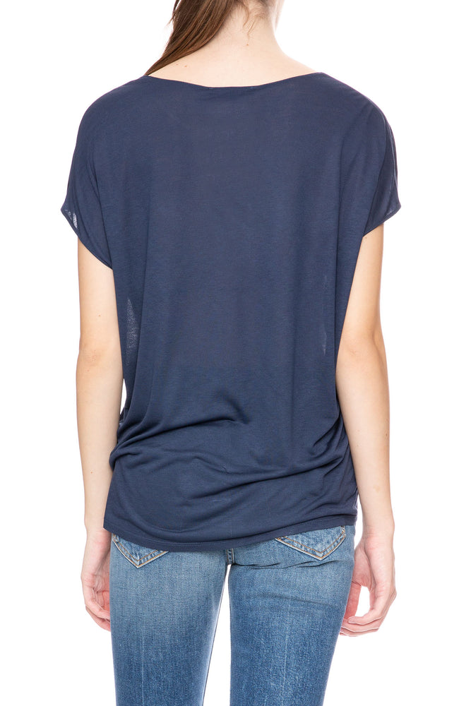 Beautiful People Sleeveless V-Neck Top in Navy at Ron Herman