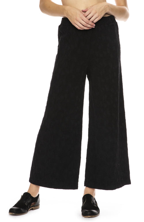 Black Crane Jacquard Pant in Black