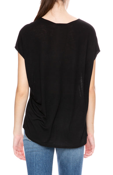 Beautiful People Sleeveless V-Neck Top in Black at Ron Herman