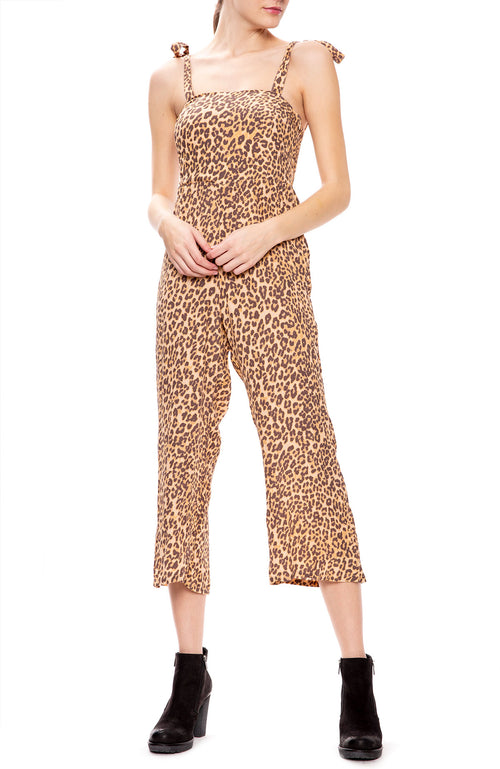 Faithfull the Brand Elsa Leopard Capri Jumpsuit at Ron Herman