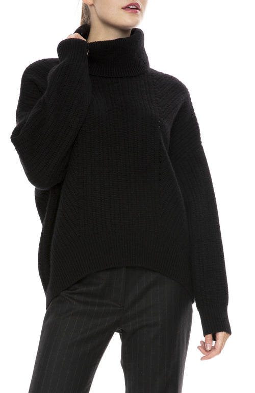 Nili Lotan Kiernan Cashmere Turtleneck Sweater in Black