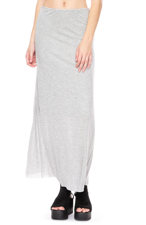 Beautiful People Long Viscose Skirt in Heather Grey at Ron Herman