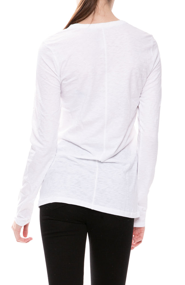 Rag & Bone Round Neck Long Sleeve Tee in White at Ron Herman