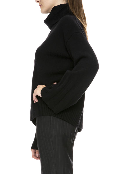 Nili Lotan Rowan Turtleneck Sweater in Black