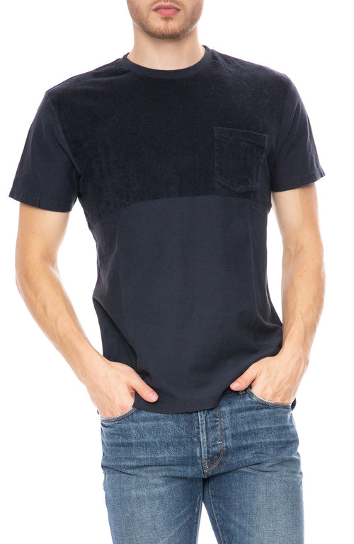 Seagreen Navy Pocket Tee at Ron Herman